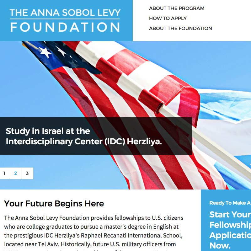 Anna Sobel Levy Foundation Website
