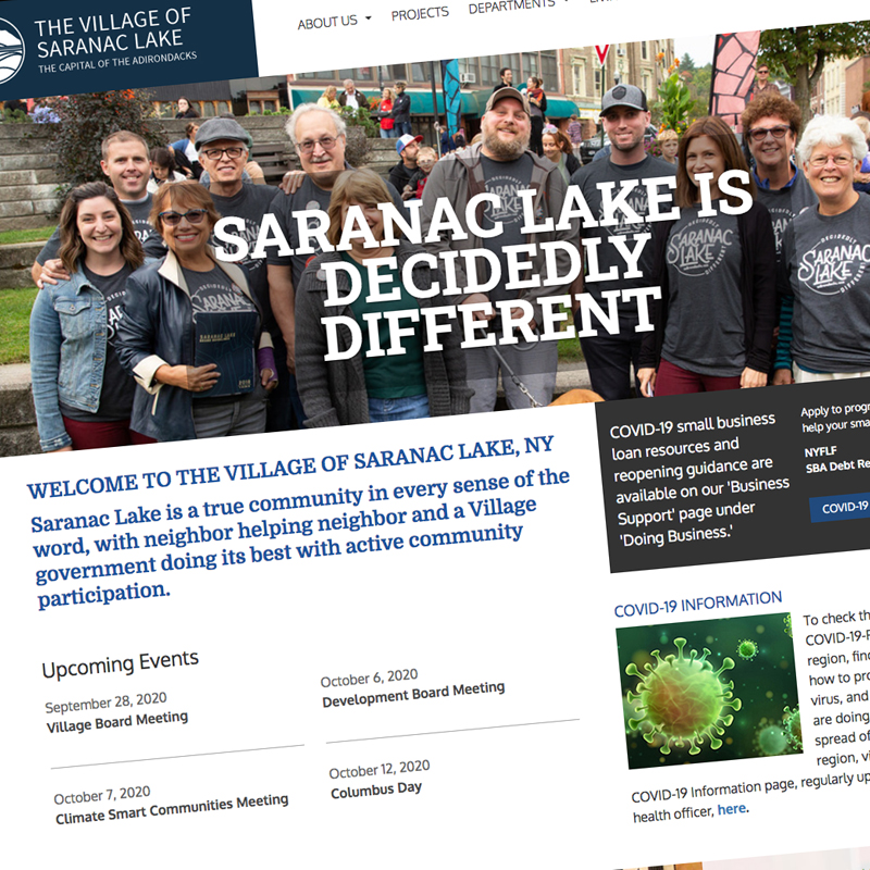 City of saranaclakeny Website